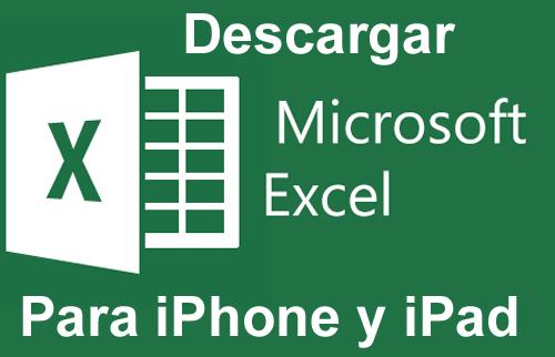 Descargar excel iphone ipad