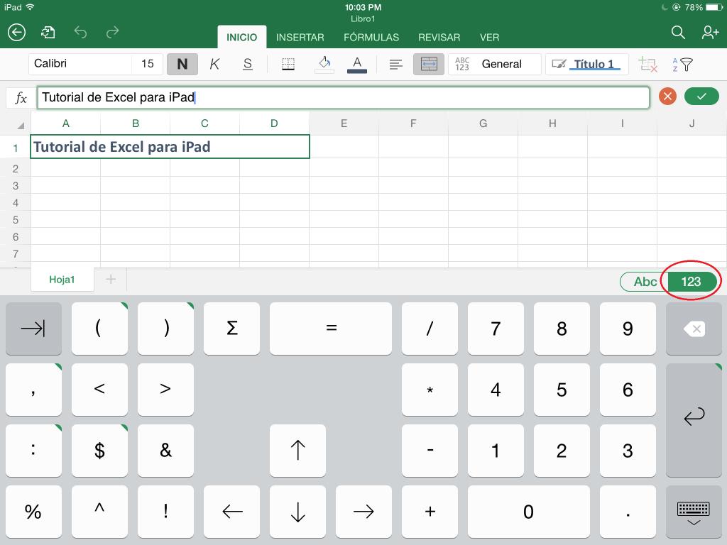 Excel para iPhone e iPad