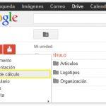 Cómo crear hojas de cálculo en Google