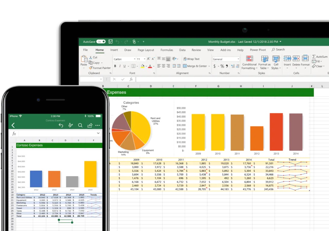 Descargar gratis Excel